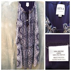 MISA Los Angeles Sleeveless Tunic Dress Top